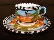 Tasse & sous-tasse céramique émaillée de Talavera, pas signées