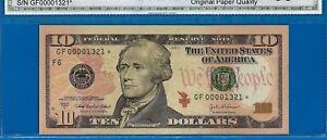 FR-2039-F* - 2004-A $10 FRN (( Atlanta - STAR )) Gem-Uncirculated # GF00001321*-