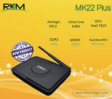 RKM MK22 Plus 3G 32G S912 Octa core 4K Android 6.0 TV Media BOX 5G WIFI HEVC VP9