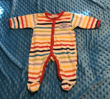 Babaluno Baby Set Cotton Footed Sleeper 0-3 M 56/62 CM Rainbow Cloud
