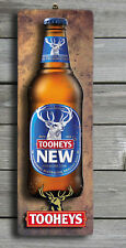TOOHEYS NEW Rustic 3D LOOK Wooden BAR Plaque / Sign (FREE POST) Stubby Image