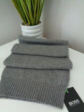 BNWT Hugo Boss Athleisure Grey Knitted Viscose Wool Cashmere Scarf
