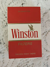 Vintage Winston Filters Cigarette Pack EMPTY Display Only Hard Box