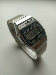 Vintage chronograph COMPU CHRON Digital watch 1980