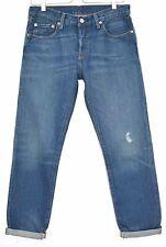 Levis 501 Ct Slim novio Jeans Cónico Azul Medio Envejecido talla 8 W26 L32