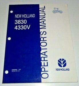 New Holland 3830 4330V Tractor Operators Maintenance Manual 7/97 NH Original!