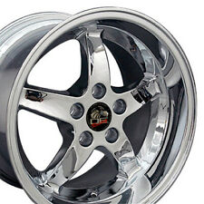 OEW Fits 17x10.5/17x9 Wheels Ford Mustang Cobra R DD Chrome Rims