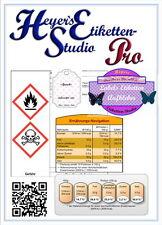 Etikettendruck Software Transportsymbole Ernährungsnavigation QR-Code Barcode