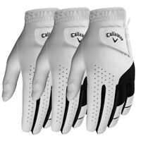 2019 Callaway Weather Spann Golf Glove - 3 PACK - Pick A Size
