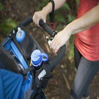 Universal Stroller Snack Tray Detachable Storage Bag Feeding Bottle Cup Holder D