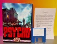 "PSYCHO Bates Motel - Box Office Computer Game 3.5"" Disk IBM PC Big Box Game Rare"