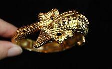 NWOT Stunning Kenneth Jay Lane Golden Alligator Crocodile Bracelet Bangle