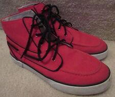 Polo Ralph Lauren  Lander Chukka Boots Red Canvas 7D High Top EUC with Box