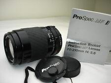PROSPEC 70-210mm F 4-5.6 lens for MINOLTA MD mount cameras SN2142329