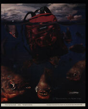1995 PIRANHA FISH gaurd an EASTPAK BACKPACK VINTAGE ADVERTISEMENT