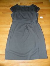 "Jones of New York womens size 16 dress Cap sleeve  ""DAY to Dinner"" Charcoal NWT"