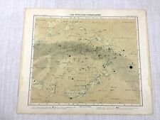 1907 Antique Map Astrological Chart Horoscope Star Constellations Cancer Aries