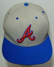 GRAY BLUE & RED UNDERBILL LOGO ATLANTA BRAVES MLB BASEBALL NEW ERA SNAPBACK HAT