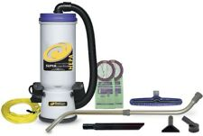 ProTeam Backpack Vacuum Carpet Cleaner 10 qt. Powerful Multi-Surface Wand HEPA