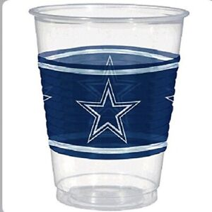 NFL DALLAS COWBOYS 16oz PLASTIC CUPS (25) ~ Birthday Party Supplies Beverage