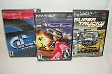 Set Of 3 PlayStation 2 Racing Games (Gran Turismo 3, Super Trucks, Power Drome)