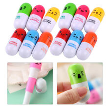 12pcs Novelty Capsule Pill Ballpoint Pens Doctor Nurse Student Kids Pen Toy Gift