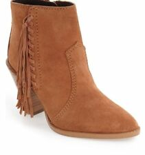 NEW COACH Westyn Fringe Ankle Boots Booties WOMENS SZ 9 M Saddle Brown $350