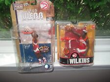 MCFARLANE NBA LEGENDS 3 &4 DOMINIQUE WILKINS & SPUD WEBB ATLANTA HAWKS LOT