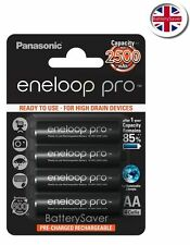 Panasonic eneloop PRO AA Battery(4 pack) 2500mAh **5th Generation BK-3HCDE**