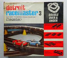 (3) Cragstan Detroit Racemaster 3 Slot Car Sets In Box Lot