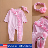 22'' Handmade Pink Reborn Newborn Baby Girl Doll Clothes Jumpsuits +