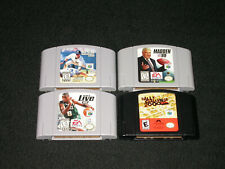 N64 Nintendo 64 Game Lot (4 Games) Madden 99 , NBA Live 99, MLB 2000, Rally 2000
