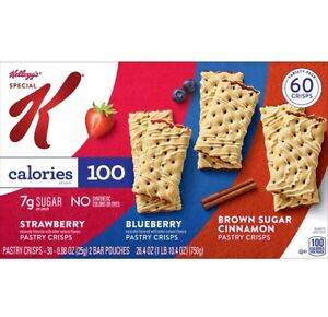 3 Cases Kellogg's Special K Pastry Crisps, Variety Pack (60 ct./case)