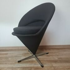 Mid Century Cone Chair Eistüte Verner Panton 1959 neu gepolstert schwarz