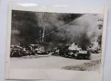 1942 ACME Photo Battle For Singapore Japanese Tank Casualties by AEF Austrailia