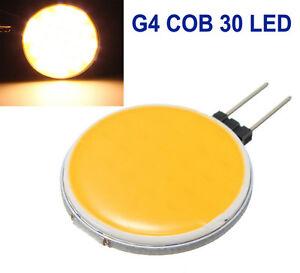 2pcs G4 30 LED DC 12V COB 7W Warm White Light Bulb Lamp Boat Caravan Spot 3300K