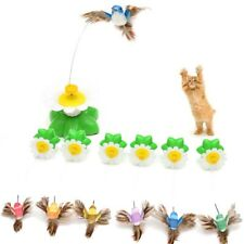 Fun Pet Electric Rotating Bird Toy For Cat Teaser Training Wire Interactive Toys