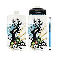 coque étui pochette pour BlackBerry Curve 9380 avec motif HF03 + Stylet luxe