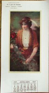 Clayton, DE 1917 Advertising Calendar: Hardware & Furniture, Bryson Art-Delaware