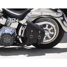 Motorcycle Harley Style TEK Leather Swingarm Softail Solo Bag