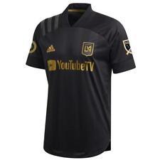 adidas Men's LAFC 2020 Authentic Home Jersey Black/Gold FL9602