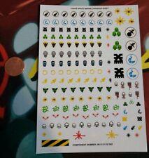 Warhammer 40k Full Chaos Space Marine Original Transfer Sheet Also Fits Primaris