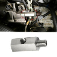 "1/8"" BSPT Oil Pressure Sensor Tee to NPT Turbo Supply Feed Line Gauge Adapter"