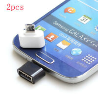 2Pcs Micro USB Male to USB 2.0 Adapter OTG Converter For Android Tablet Phone