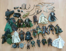 Large Bundle of Lord Of The Rings 19 Action Figures Weapons Accessories