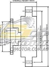 DAYCO Fanclutch FOR Toyota Supra Oct 1988 - Sep 1990 3.0L 24V EFI 64MA70 7M-GE