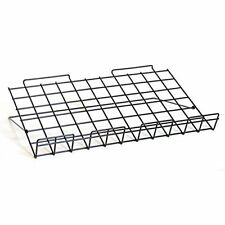 Adjustable Wire Slatwall Shelf in Black 23.75 W x 14 D Inches - Pack of 4