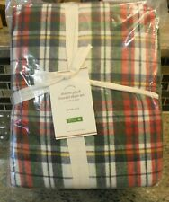 New Pottery Barn Organic Flannel Christmas Holiday DENVER PLAID Sheet Set- Queen