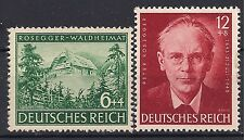 Nazi Germany 3rd Reich Mi # 855-856 MH Birth Centenary of Peter Rosegger 1943 *