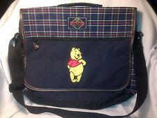 UNIQUE+L-Winnie the Pooh Book/TRAVEL Bag-Shoulder Strap+Handle-Plaid-Canvas-TAGS